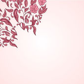 Hand drawn decorative vector background with flowers — Stock Photo