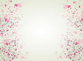 Hearts and swirls on on a light background. seamless background — Stock Vector