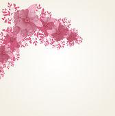手绘花卉背景与详细框架 — 图库矢量图片