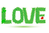 Love of green leaves — Stock Vector