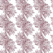 Hand drawing floral background. Seamless pattern — Vecteur