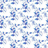 Blue leaves seamless pattern — Vecteur