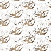 金色卷发的一只鸟形式装饰框架 — 图库矢量图片