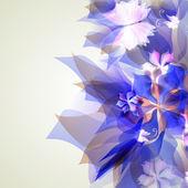 Künstlerische abstrakt blau floral-element — Stockvektor