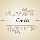 Abstract background with flowers in vintage style — Stock Vector