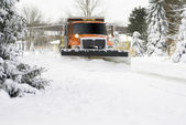 Snow Plow Approaching Snow Plow Approaching — Stock Photo
