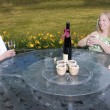 Women on Patio Laughing — Stock Photo #25212013