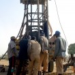 Drilling of a well in Burkina Faso - Stock Photo