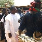 Establishment of a usual chief in Burkina Faso — Stock Photo