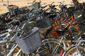 Bicycles of the pupils — Stock Photo