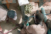 Drilling of a well in Burkina Faso — Stock Photo