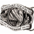 Buckle of belt gold rush — Stock Photo
