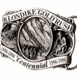 Buckle of belt gold rush - Stock Photo