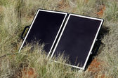Solar panel in the Australian bush — Stock Photo