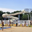 The swimming pool of the camp-site - Stock Photo