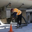 Stock Photo: Fuel delivery in an Australian service station