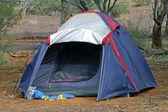 Wilderness camping in the Australian desert — Stock Photo