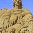 Exposure of sand sculptures in France to Touquet — Stock Photo