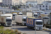 Road transport on the wearing of Marseilles — Stock Photo