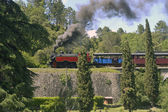 The small tourist train of Anduze in the Cevennes — Stock Photo