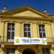 Town hall of the town of Uzes - Stock Photo