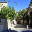 Small street of the town of Uzes - Stock Photo