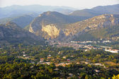 Anduze city of the Cevennes in the department of Gard — Stock Photo