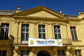 Town hall of the town of Uzes — Stock Photo