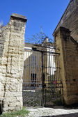 Old building of Uzes in restoration — Stock Photo