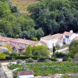 Houses and landscape of the Cevennes — Stock Photo