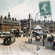 Old postcard of Lille, the great place - Stock Photo