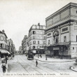 Old postcard of Paris, street of the Nivert cross and the theatre of Grenelle — Stock Photo