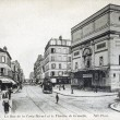 Old postcard of Paris, street of the Nivert cross and the theatre of Grenelle - Stock Photo