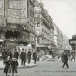 Old postcard of Paris, the street of Clignancourt — Stock Photo