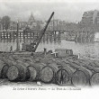 Old postcard of Seine through Paris, bridge of squadron — Stock Photo #21728585