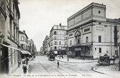 Carte postale ancienne de paris, rue de la nivert croix et du théâtre de grenelle — Photo