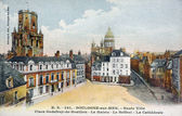 Old postcard of Boulogne on sea — Stock Photo