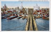 Old postcard of the bridge of Brooklyn — Stock Photo