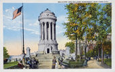 Old postcard of New York, Soldiers' and Sailors' monument — Stock Photo