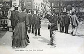 Old postcard of lived Paris, small wind of north — Stock Photo