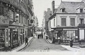 Old postcard of Trouville, the street of the sea — Stock Photo