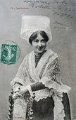 Standard old postcard of rochelais — Stock Photo