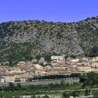 Panoramic of the town of Anduze - Stock Photo