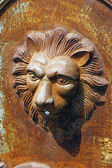Fountain with head of lion for garden — Stock Photo