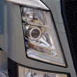 Royalty-Free Stock Photo: Close-up on a headlight of new truck