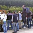 Stock Photo: Spectators of automobile race