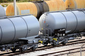 Trains tanker — Stock Photo