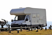 Motor home parked — Stock Photo