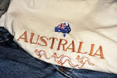 Embroidered map of australia — Stock Photo