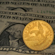 Foto Stock: A coin ten dollar gold